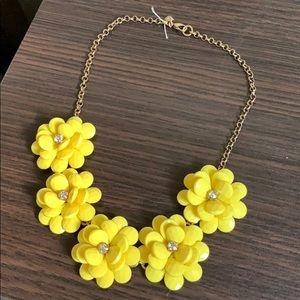 J Crew Flower Accent Necklace